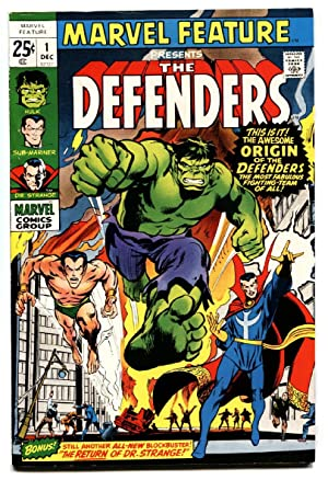 MARVEL FEATURE #1-1st appearance VF THE DEFENDERS HULK SUB-MARINER DR. STRANGE