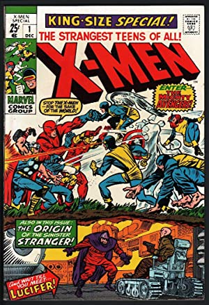 X-Men Annual #1-1970-FN+-AVENGERS-NICE COPY-Silver-Age