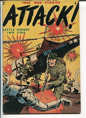 Attack #1 1952-Dell-1st issue-Harrison-Bache-Iwo JIma-commies-Korea-VG+