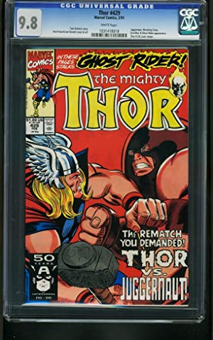 THOR #429-JUGGERNAUT-HIGHEST CGC GRADED 9.8-MARVEL-RARE 1031418018