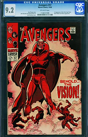 AVENGERS #57-FIRST VISION-CGC 9.2-HIGH GRADE-ULTRON-NM- 1136721008