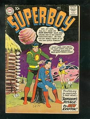 SUPERBOY #74 1959-KRYPTON JOR-EL KAL-EL ROCKET ON COVR VG