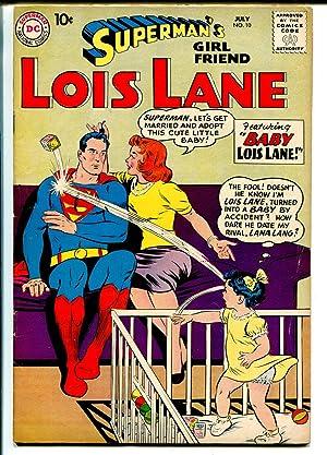 Superman's Girlfriend Lois Lane #10 1959-DC Comics-Lois as a baby-FN+