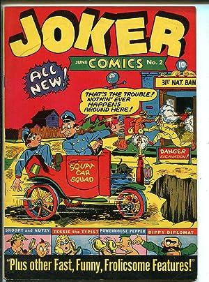 Joker #2 1942-Timely-Wolverton-1st Tessie Typist-2nd Powerhouse Pepper-VF