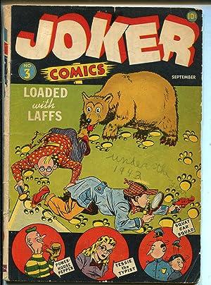 Joker #3 1942-Timely-Wolverton-Tessie The Typist-Powerhouse Pepper-GOOD-