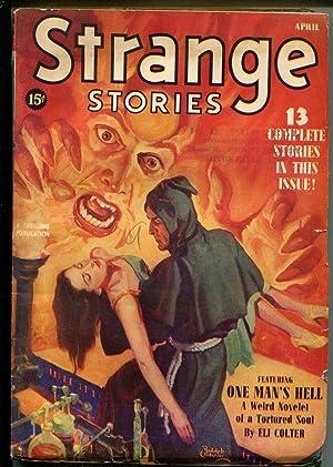 Strange Stories 4/1940-hooded menace-Belarski-Spier Woman-horror pulp-VG
