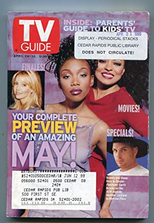TV Guide-April 24-30,1999-Diana Ross-Garth Brooks-Iowa Ed-VG