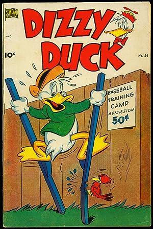 Dizzy Duck #34 1951- Wild stilt cover- Funny Animals VG+