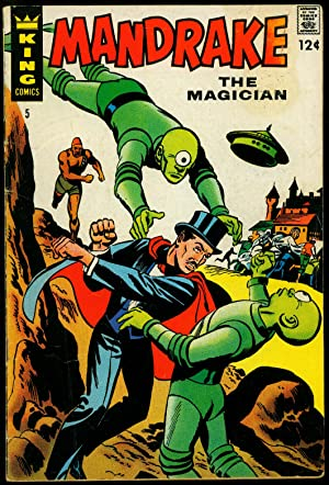 Mandrake The Magician #5 1967-Flying Saucer cover-