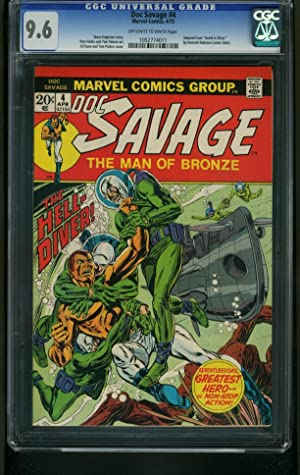 DOC SAVAGE #4 1973-CGC GRADED 9.4-DEATH IN SILVER-FROGMAN COVER 9.6 1052774011