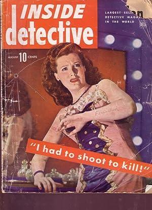 INSIDE DETECTIVE 1944 AUG WARTIME GOLF COURSE CRIME FR/G