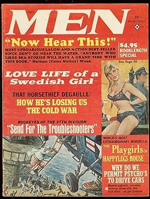 MEN MAGAZINE JULY 1965-SWEDISH LOVE LIFE-PLAYGIRLS-WW 2