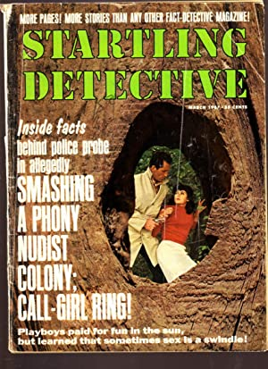 STARTLING DETECTIVE 1967 MAR VIOLENT CRIME NUDIST CLUB G-