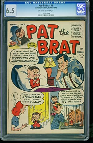Pat the Brat #1 1955 -CGC 6.5 2nd Highest- Archie -SOUTHERN STATES 1197124006