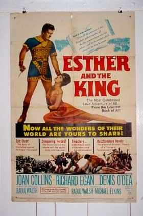 ESTHER AND THE KING-1960-ONE SHEET VG