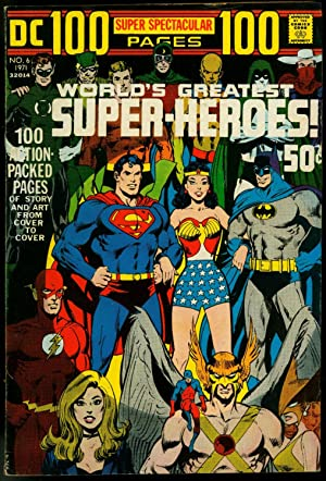 DC 100-Page Super Spectacular #6 1971- Worlds Greatest Super-Heroes- Adams FN-