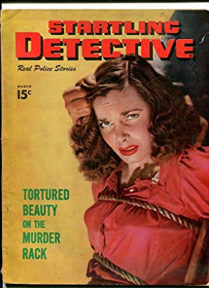 STARTLING DETECTIVE-1949-MAR-WOMAN BOUNDED ON COVER G