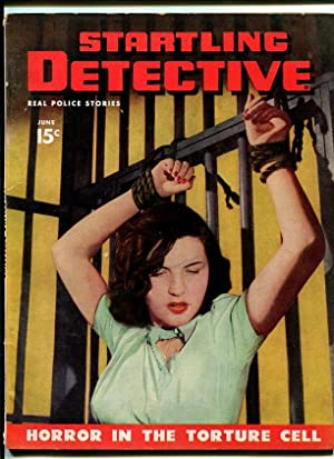 STARTLING DETECTIVE-1947-JUNE-BOUNDED WOMAN ON COVER VG