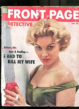 FRONT PAGE DETECTIVE-1955-JULY-GOOD GIRL ART COVER G/VG