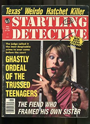 STARTLING DETECTIVE-1987-MAY-WOMAN BEHIND BARS-GUN ATTACK CVR VG