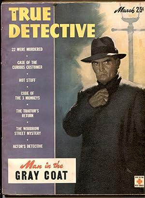 TRUE DETECTIVE MAR 1946-VG-MURDER-VIOLENCE-PULP-MAGAZINE VG