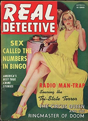 REAL DETECTIVE APR 1942-WILD TRUE CRIME-PULP-MAGAZINE-LEGGY COVER-CASTRATION FN