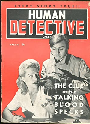 HUMAN DETECTIVE CASES MAR 1943-MAGAZINE-TRUE CRIME-PULP FR/G