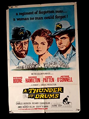 A THUNDER OF DRUMS-1961-VG -ONE SHEET-WESTERN-BOONE-HAMILTON-PATTEN VG