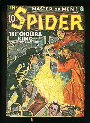 SPIDER APRIL 1936-CHOLERA KING-WILD PULP STORY