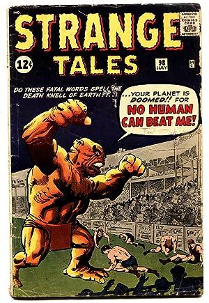 STRANGE TALES #98 comic book 1962-MARVEL-HORROR-JACK KIRBY-STEVE DITKO