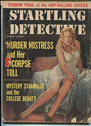 STARTLING DETECTIVE-10/1959-COP-KILLING COLYE BROTHERS-MYSTERY STRANGLER VG