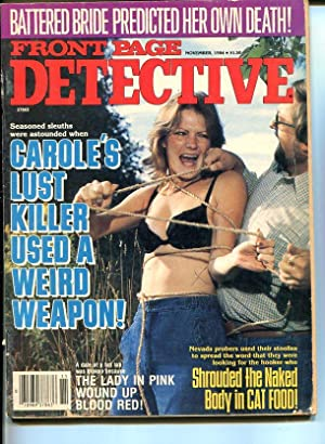 FRONT PAGE DETECTIVE -NOV 1984-G-HARD BOILED-SPICY-MURDER-RAPE-TIED AND G/VG