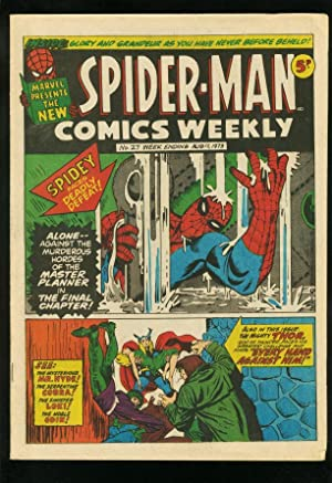 SPIDER-MAN COMICS WEEKLY #27 1973-STEVE DITKO-JACK KIRBY-BRITISH-F-FN