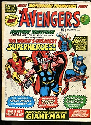 AVENGERS #1 1973-THOR-GIANT-MAN-IRON MAN-KIRBY-UK COMIC VG