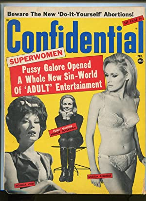 CONFIDENTIAL 02/1966-BY-LINE PUBS-007-PUSSY GALORE-SAM COOKE-HONEY WEST-fn minus