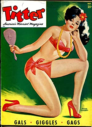 Titter 11/1946-Peter Driben-cheesecake-stockings-girl fights-lingerie-VF