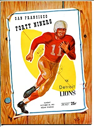 San Francisco 49ers VS Detroit Lions-NFL Game Program 8/25/1953-Kezar-G