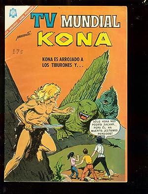 T.V. MUNDIAL #90 1965-KONA-DINOSAURS-RARE-SPANISH COMIC FN