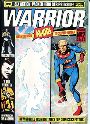Warrior Magazine #2 1982- Marvelman- V For Vendetta- Alan Moore 1st Madman