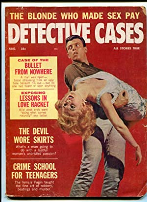 DETECTIVE CASES-1963-AUGUST-MUDER COVER-GGA G/VG
