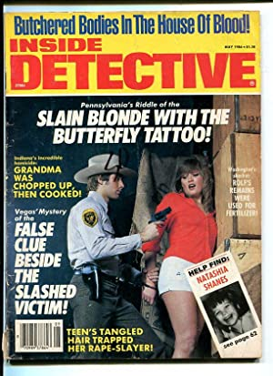 INSIDE DETECTIVE-1986-MAY-POLICE ARRESTING WOMAN COVER VG