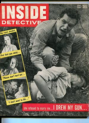 INSIDE DETECTIVE-1956-JAN-WOMAN MURDER COVER G/VG