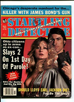 STARTLING DETECTIVE-1982-MARCH-GUN MOLL COVER VG