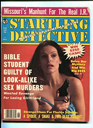 STARTLING DETECTIVE-1981-AUGUST-WOMAN WITH GUN COVER VG