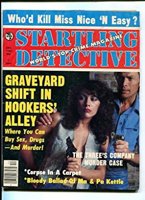 STARTLING DETECTIVE-1980-DEC-COUPLE WITH GUNS COVER VG