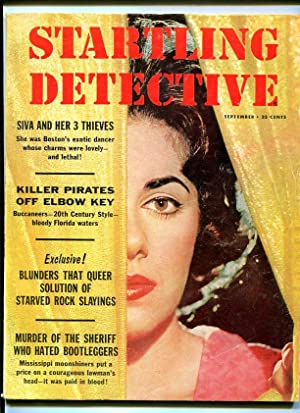 Startling Detective Magazine September 1960- Swamp Murder True Crime VG