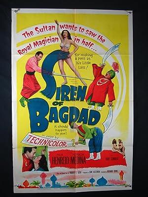 SIREN OF BAGDAD-1953-27X41 ORIG POSTER-PAUL HENREID VG/FN