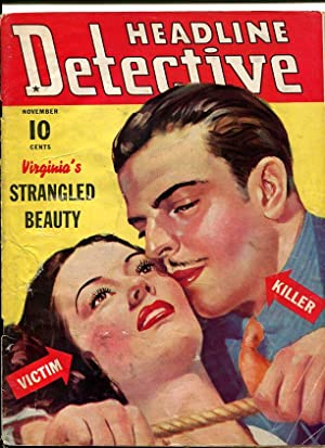 HEADLINE DETECTIVE-1939-NOVEMBER-STRANGULATION COVER VG