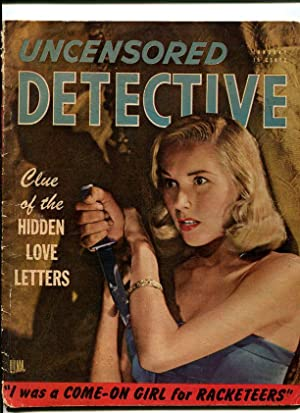 Uncensored Detective Magazine January 1947- Crime Exploitation- GGA cover