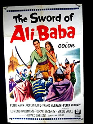 SWORD OF ALI BABA-1965-POSTER-PETER MANN-ADVENTURE VG/FN